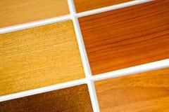 Proben des Holzes Stockfoto
