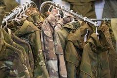 Proben tarnen Militärkleidung Lizenzfreie Stockbilder