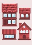 Proben von Backsteinhäusern Stockfoto