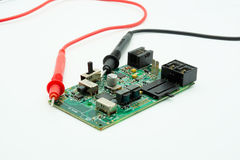 Probes and electronic circuit board Stock Photography