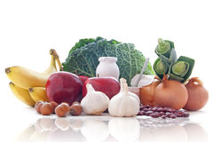 Probiotic (prebiotic) foods Royalty Free Stock Photography