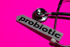 Probiotic on the print paper with medicare Concept