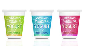 probiotic yoghurt royaltyfri illustrationer