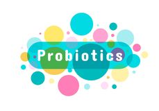 Probiotics细菌商标 库存例证