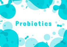 Probiotics细菌商标 皇族释放例证
