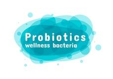 Probiotics细菌商标 向量例证