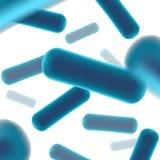 probiotics细菌的创造性的例证在背景隔绝的 艺术设计微观细菌特写镜头 概念healt 库存例证