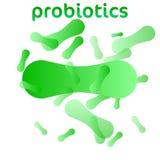 Probiotics-Bakterien-Vektor-Logo lizenzfreie abbildung