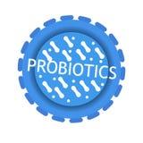 Probiotics-Bakterien-Vektorausweis lizenzfreie abbildung