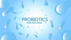 Probiotics bakterii wektoru odznaka ilustracja wektor