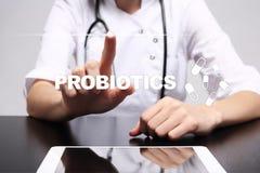 Probiotics De gezondheidsverbetering Medicijn en geneeskundeconcept stock foto
