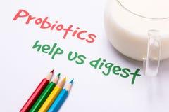 Probiotics help us digest Stock Images