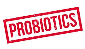Probiotics rubber stamp Royalty Free Stock Image