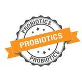 Probiotics stamp illustration Stock Photo