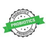 Probiotics stamp illustration Stock Image