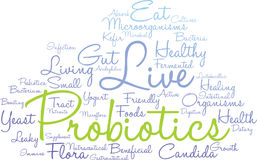 Probiotics Word Cloud. On a white background Royalty Free Stock Photos