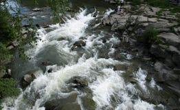 Probiy waterfall, Carpathian mountains, Ukraine royalty free stock photography