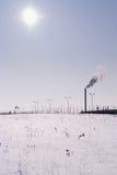 Problème écologique en hiver Images stock