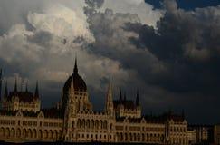 Problème au-dessus de la Hongrie Photographie stock