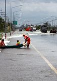 Problème d'inondation dans Lopburi Thaïlande Photo libre de droits