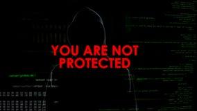 Problème d'intimité de Cybersecurity, protection personnelle des besoins d'informations, entaillant photo libre de droits