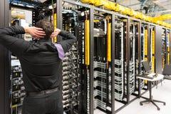 Problème de centre de traitement des données Photo libre de droits