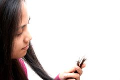 Problème de cheveu Photographie stock