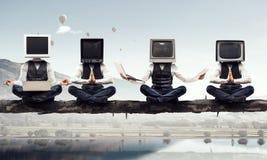 Problème de dépendance de télévision Media mélangé Media mélangé images libres de droits