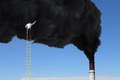 Problème de la pollution atmosphérique Images stock