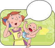 Problème de mère Photo libre de droits