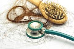 Problème de perte des cheveux photo libre de droits