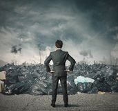 Problème de pollution Photo stock