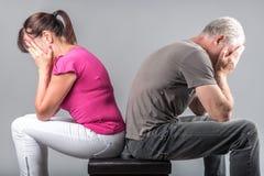 Problème de relations de couples image stock
