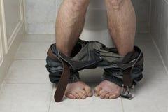 Problème de toilette Images libres de droits