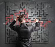 Problème et confusion Images stock