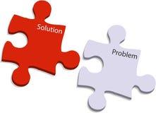 Problème et puzzle de solution Image libre de droits