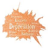 Problème mental de désordre émotif de dépression de vecteur illustration libre de droits