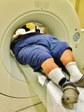 Problème patient de poids excessif de radiologie de ct de mri Image stock