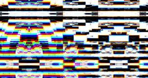 Problème réaliste abstrait d'écran clignotant, signal analogue du vintage TV avec la mauvaise interférence, fond statique de brui clips vidéos