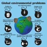 Problèmes écologiques globaux Photographie stock