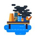 Problèmes écologiques, vecteur de pollution environnementale Image libre de droits