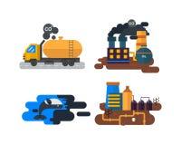 Problèmes écologiques, vecteur de pollution environnementale Images libres de droits
