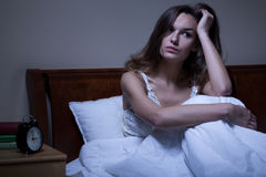 Problèmes avec le sommeil Photo libre de droits
