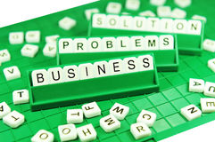 Problèmes commerciaux et solutions Photographie stock libre de droits