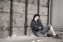 Problèmes d'années de l'adolescence Photo stock