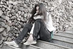 Problèmes d'années de l'adolescence. Image libre de droits