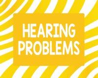 Problèmes d'audition des textes d'écriture de Word Le concept d'affaires pour est incapacité partielle ou totale d'écouter des br illustration de vecteur