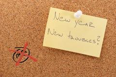 Problèmes d'autocollant de nouvelle année nouveaux Photos stock