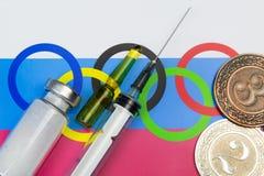 Problèmes dans le sport russe dû au dopage image stock