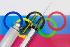 Problèmes dans le sport russe dû au dopage images libres de droits